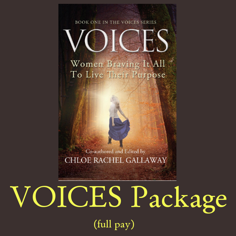 VOICES Package (full pay) Early-Bird pricing ends 12/31!